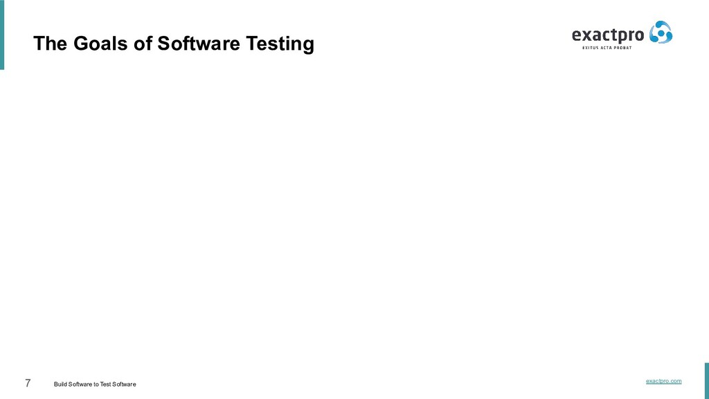 7 Build Software to Test Software exactpro.com ...