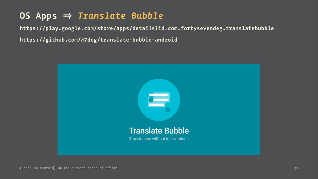 OS Apps 㱺 Translate Bubble https://play.google....
