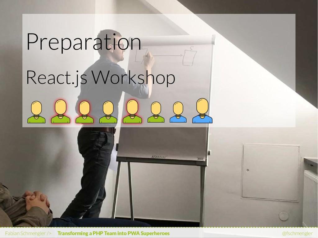 Preparation React.js Workshop Fabian Schmengler...
