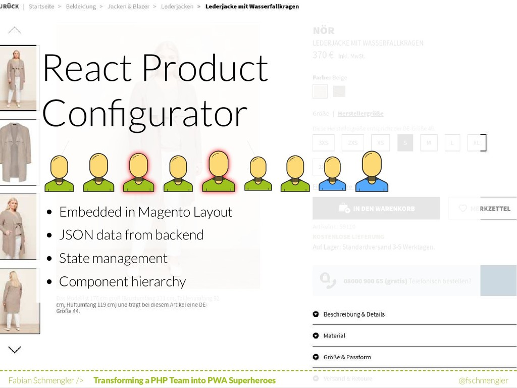 React Product Configurator Embedded in Magento L...