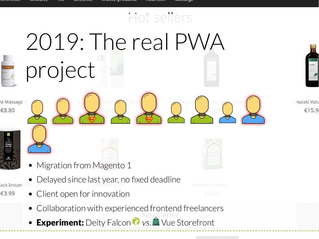 2019: The real PWA project Migration from Magen...