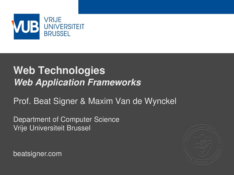2 December 2005 Web Technologies Web Applicatio...