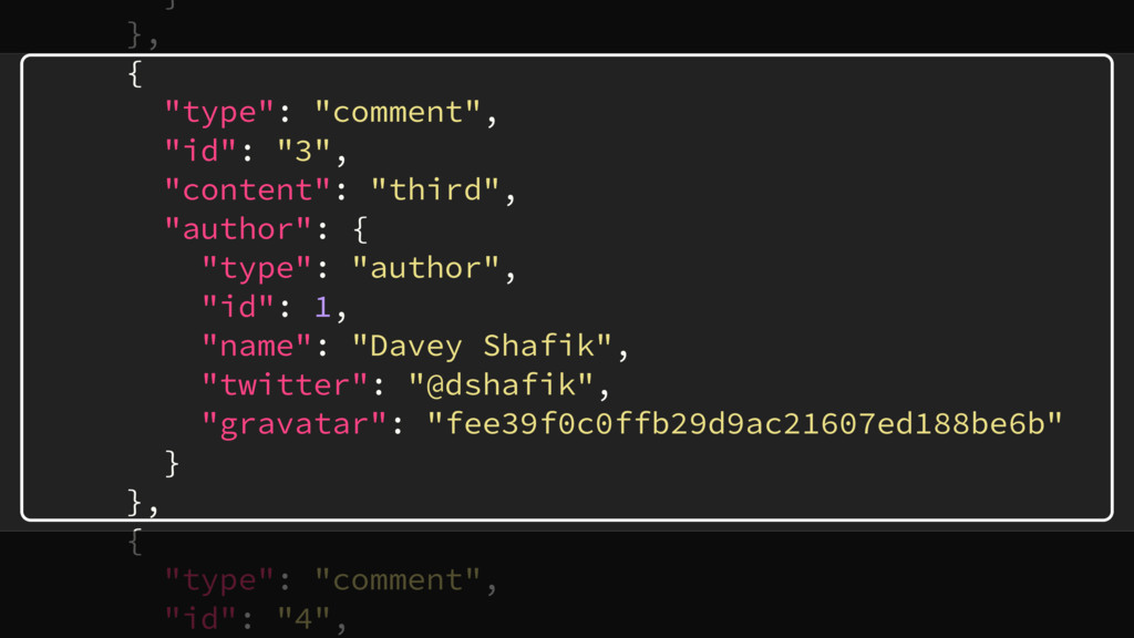 """} }, { """"type"""": """"comment"""", """"id"""": """"3"""", """"content"""":..."""