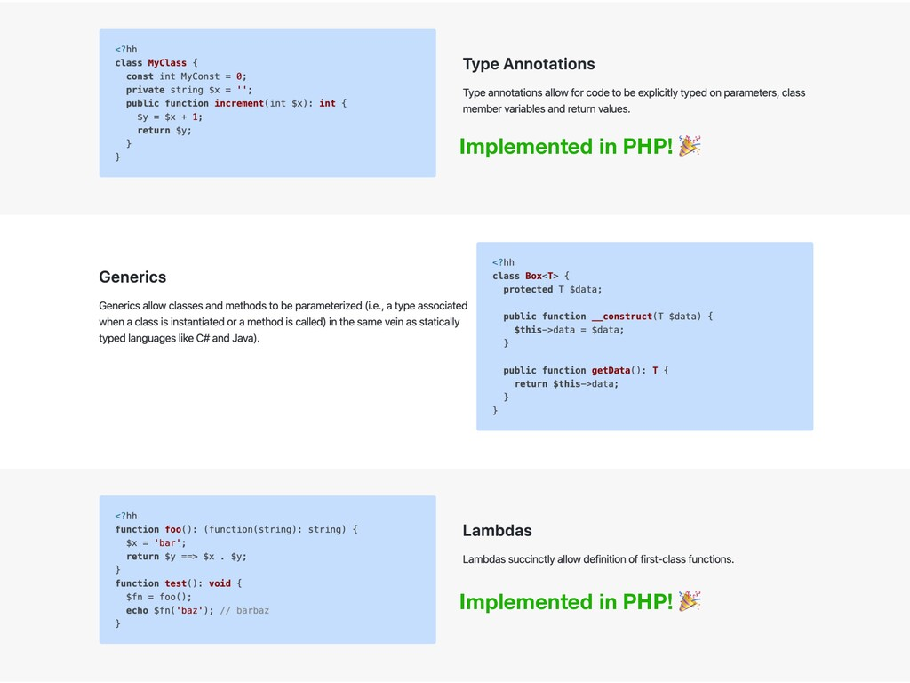 Implemented in PHP!  Implemented in PHP!