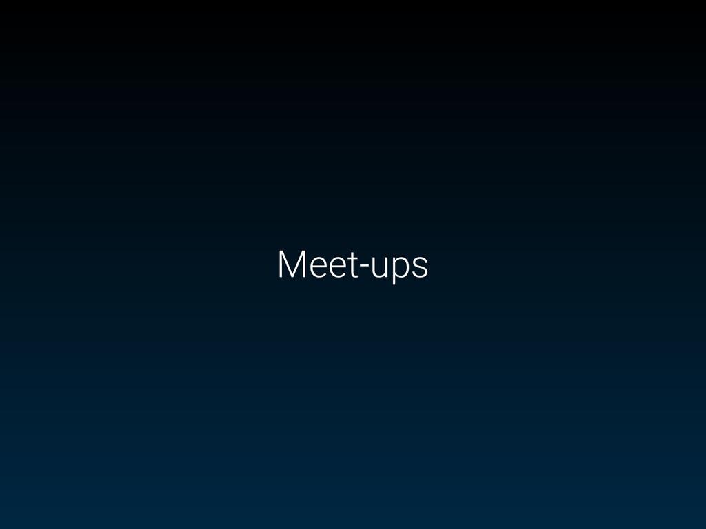 Meet-ups