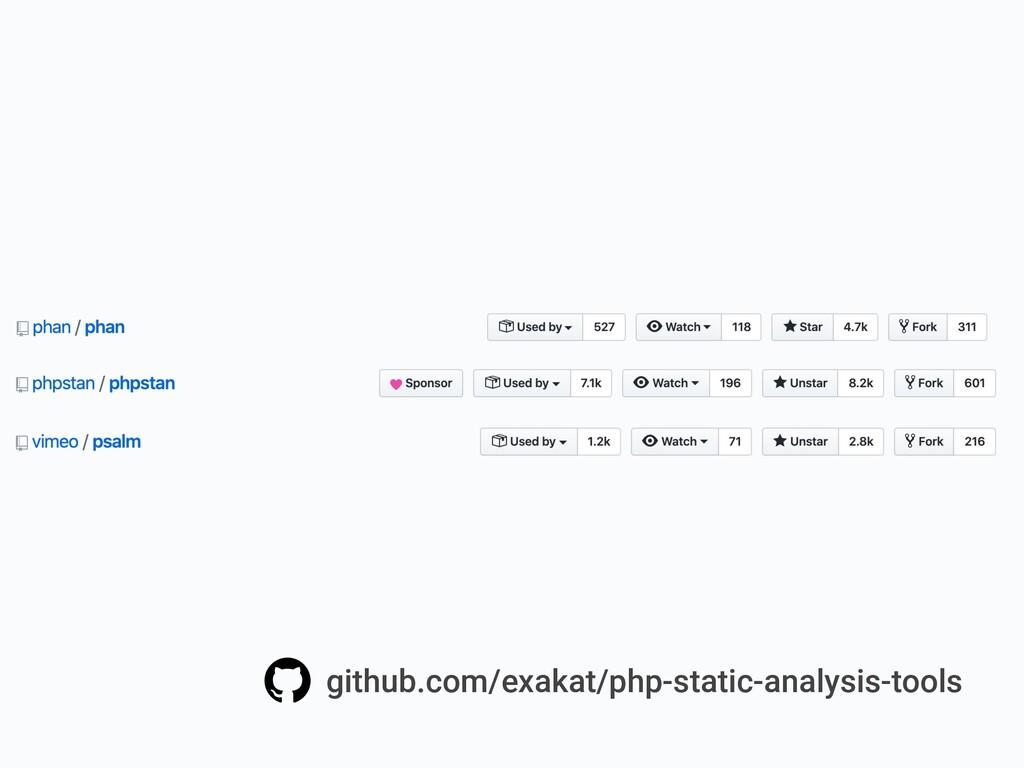 github.com/exakat/php-static-analysis-tools