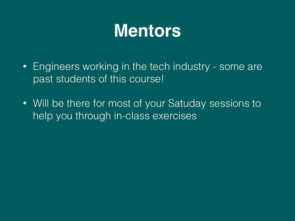 Mentors • Engineers working in the tech industr...