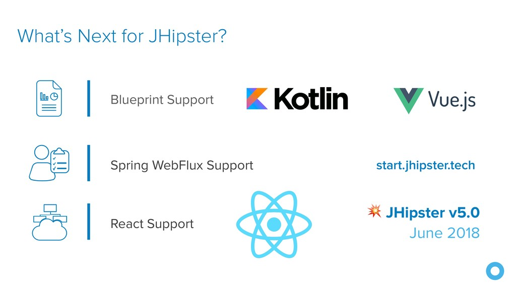 What's Next for JHipster?  JHipster v5.0 June 2...