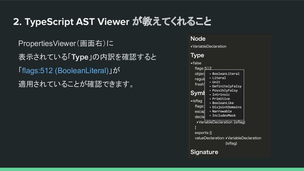 2. TypeScript AST Viewer が教えてくれること PropertiesVi...