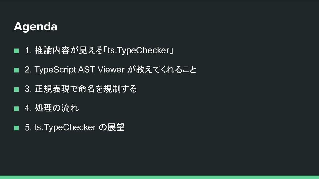 Agenda ■ 1. 推論内容が見える「ts.TypeChecker」 ■ 2. TypeS...