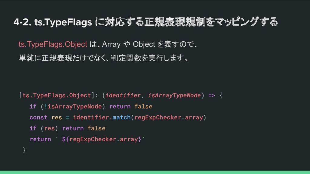 4-2. ts.TypeFlags に対応する正規表現規制をマッピングする ts.TypeFl...