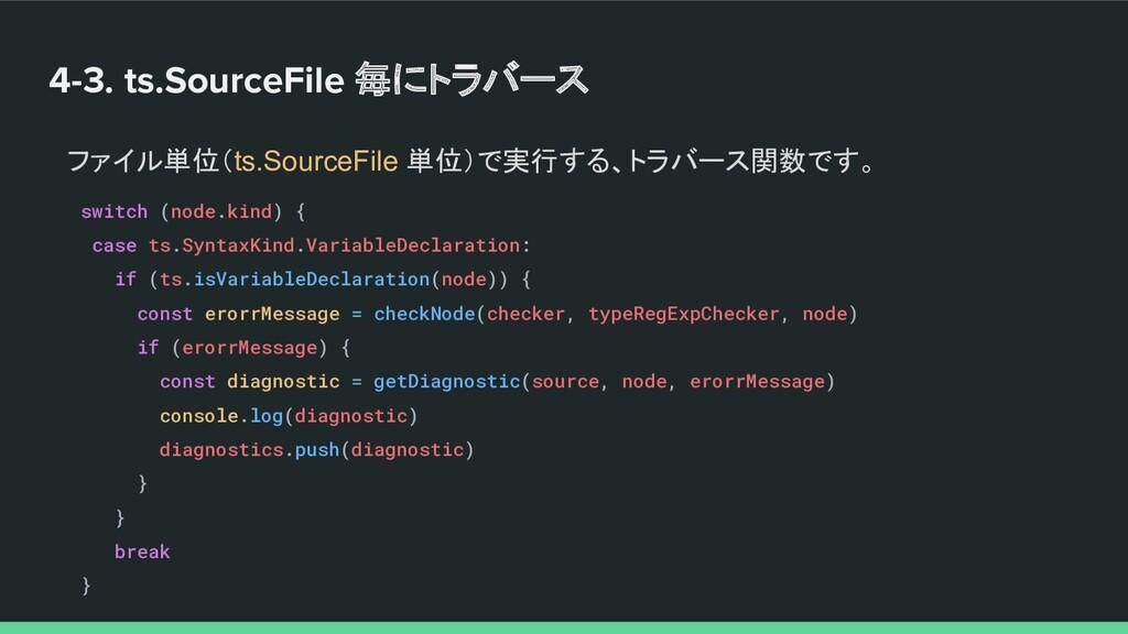 4-3. ts.SourceFile 毎にトラバース ファイル単位(ts.SourceFile...