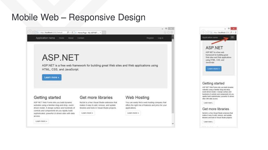Mobile Web – Responsive Design