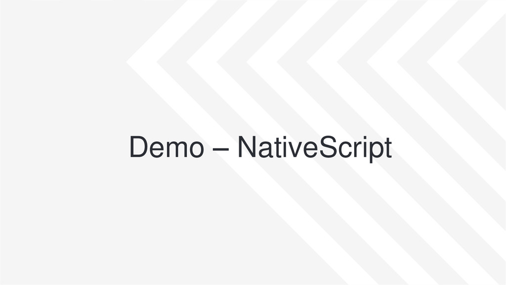 Demo – NativeScript