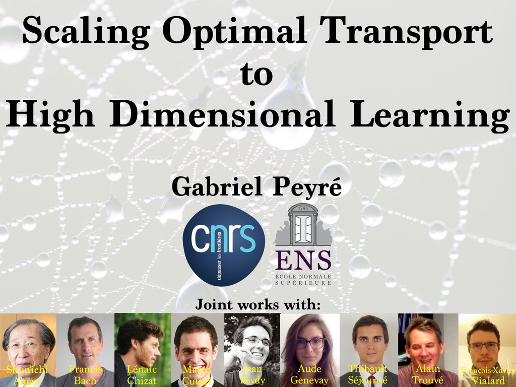 Scaling Optimal Transport to High Dimensional L...