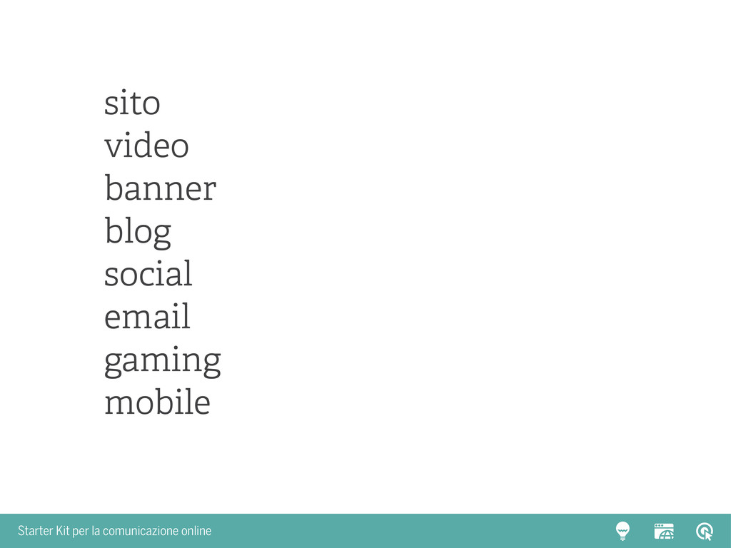 Starter Kit per la comunicazione online sito vi...