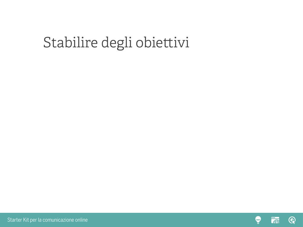 Starter Kit per la comunicazione online Stabili...