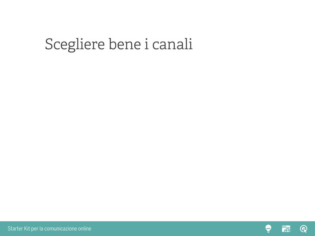 Starter Kit per la comunicazione online Sceglie...