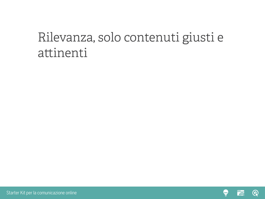 Starter Kit per la comunicazione online Rilevan...