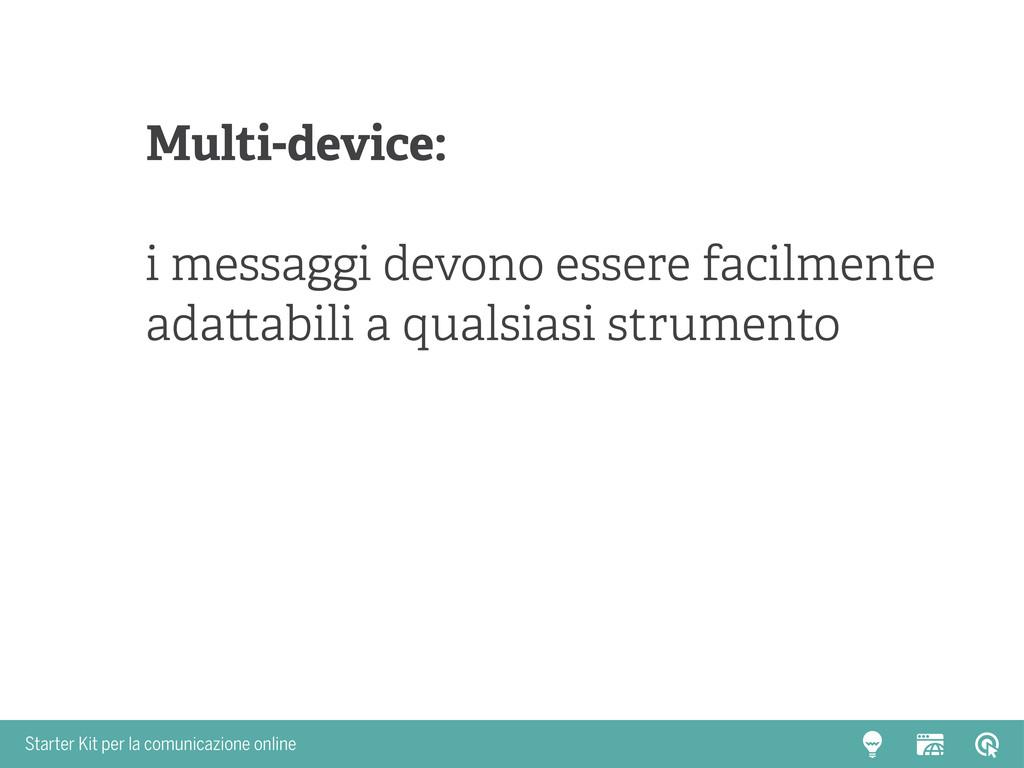 Starter Kit per la comunicazione online Multi-d...