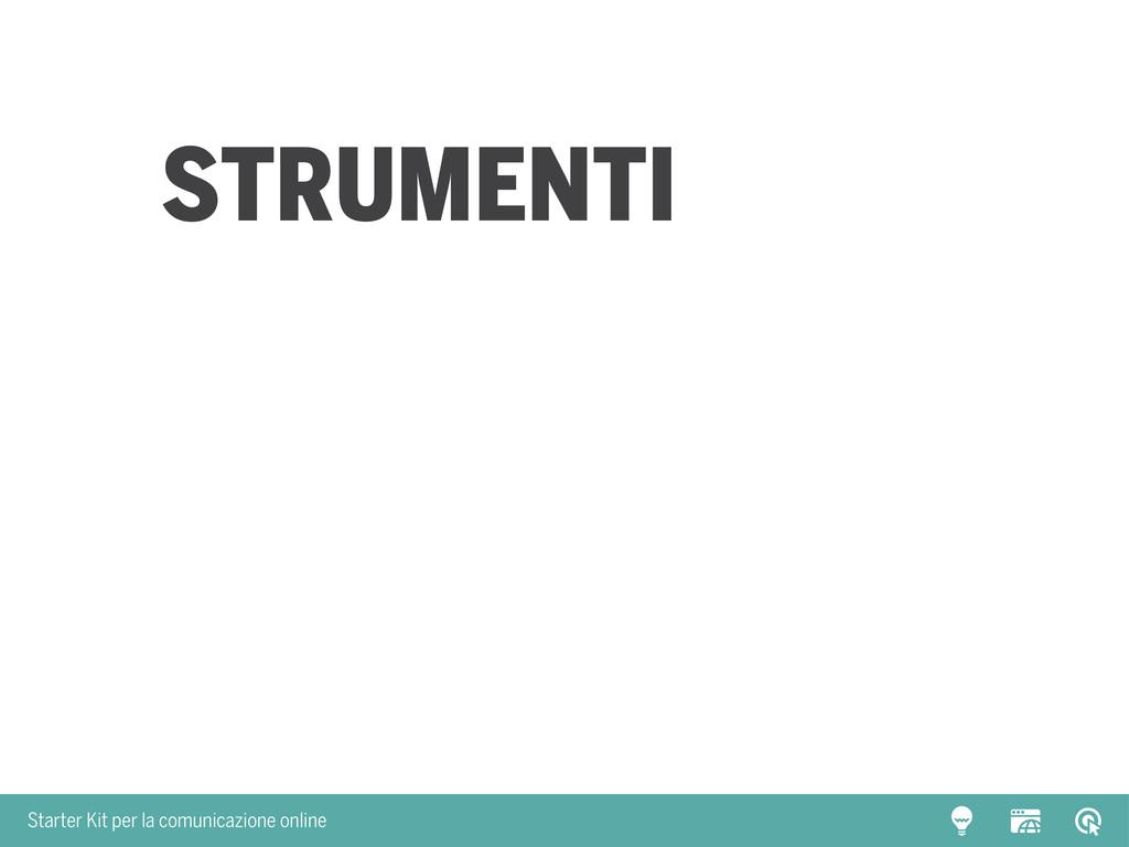 Starter Kit per la comunicazione online Strumen...