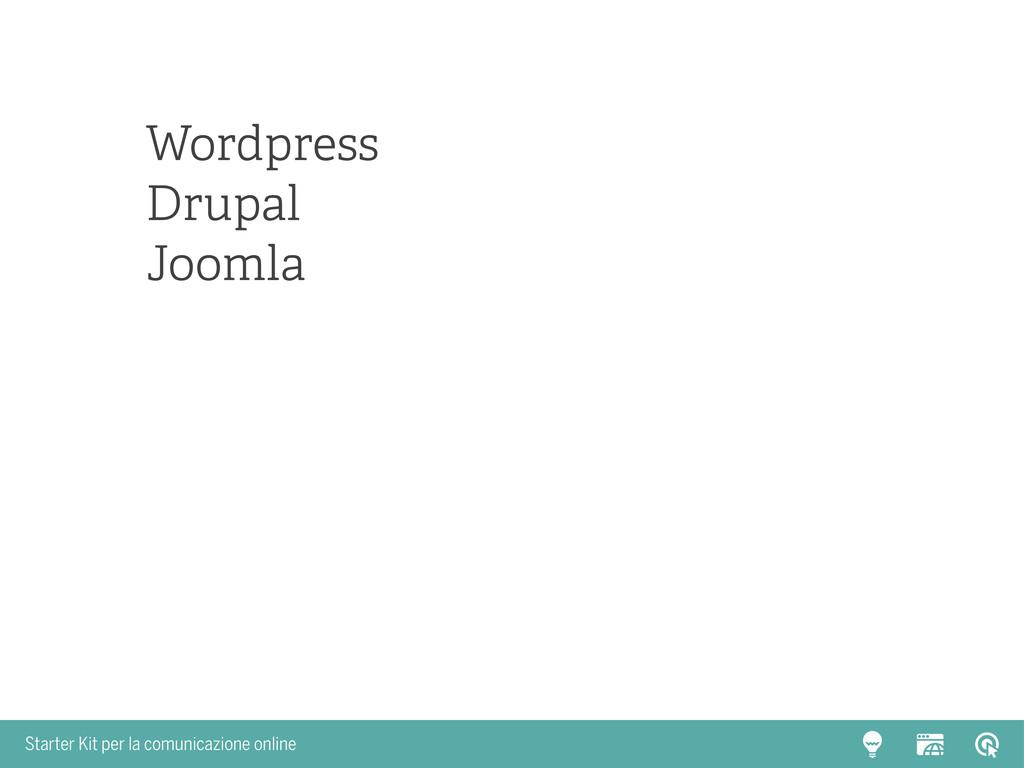 Starter Kit per la comunicazione online Wordpre...