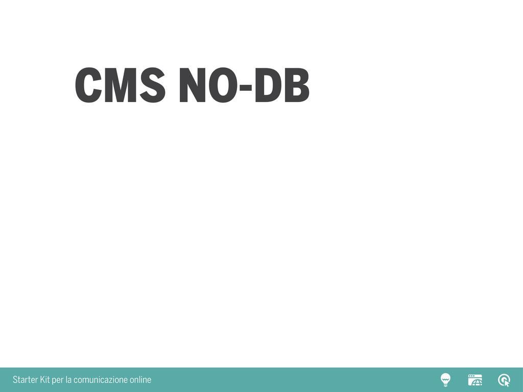 Starter Kit per la comunicazione online CMS NO-...
