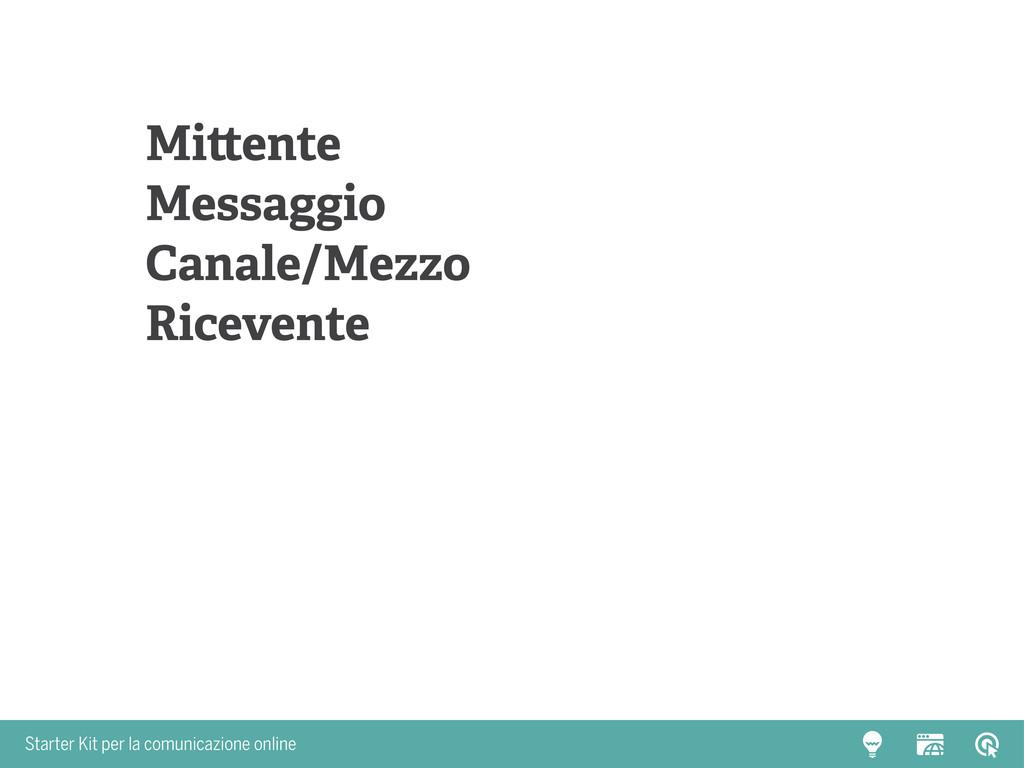 Starter Kit per la comunicazione online Mittent...