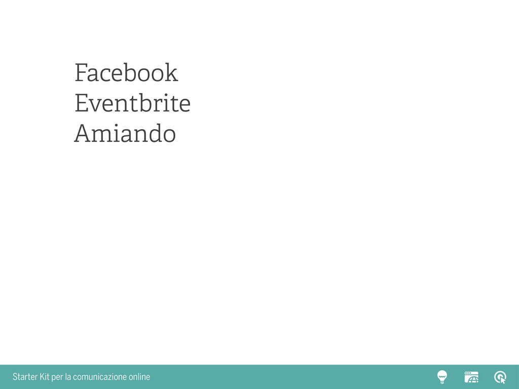Starter Kit per la comunicazione online Faceboo...