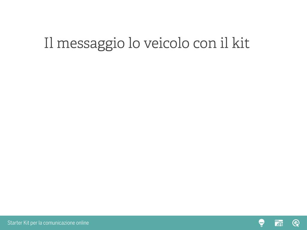 Starter Kit per la comunicazione online Il mess...
