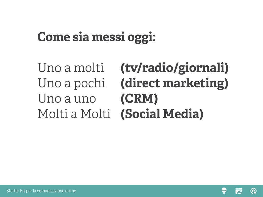 Starter Kit per la comunicazione online Come si...