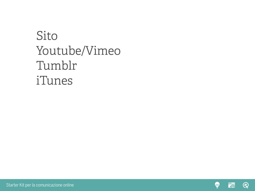 Starter Kit per la comunicazione online Sito Yo...