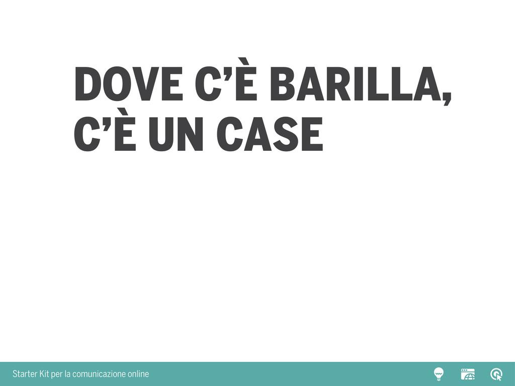 Starter Kit per la comunicazione online Dove c'...