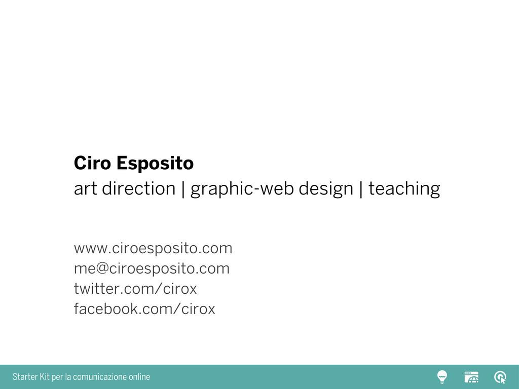 Starter Kit per la comunicazione online Ciro Es...