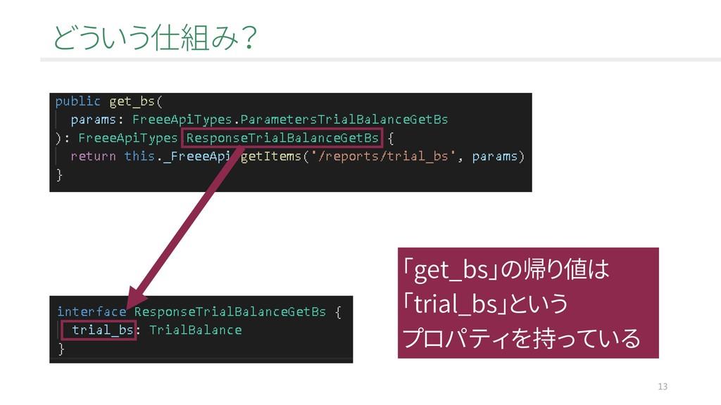どういう仕組み? 13 「get_bs」の帰り値は 「trial_bs」という プロパティを持...