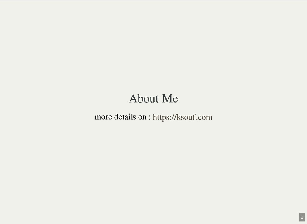 About Me About Me more details on : https://kso...