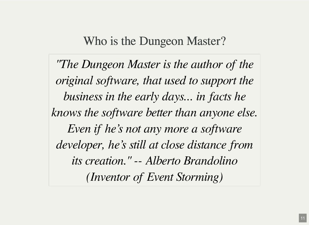 Who is the Dungeon Master? Who is the Dungeon M...
