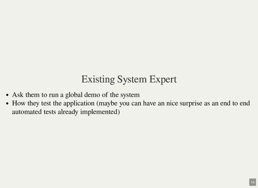 Existing System Expert Existing System Expert A...
