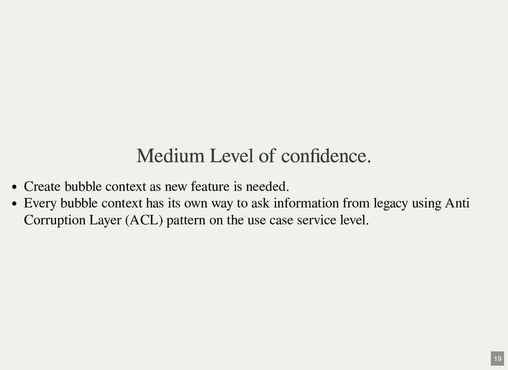 Medium Level of confidence. Medium Level of confi...