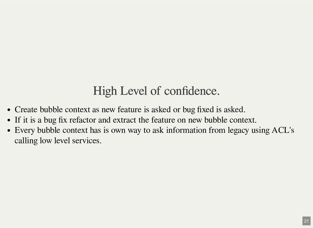 High Level of confidence. High Level of confidenc...