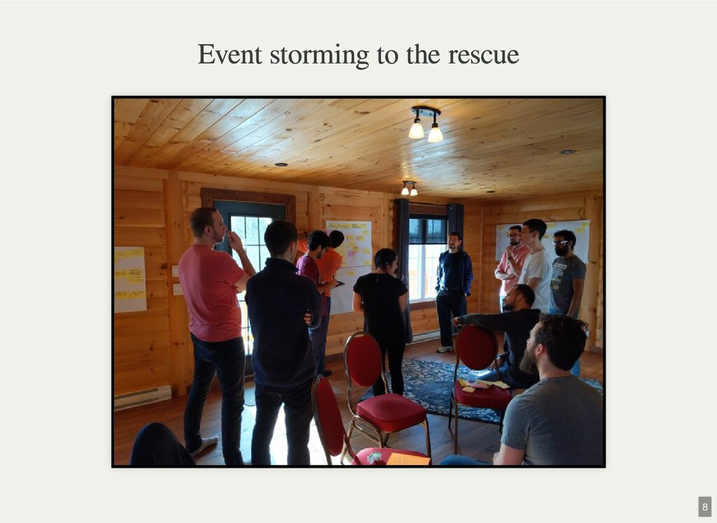 Event storming to the rescue Event storming to ...