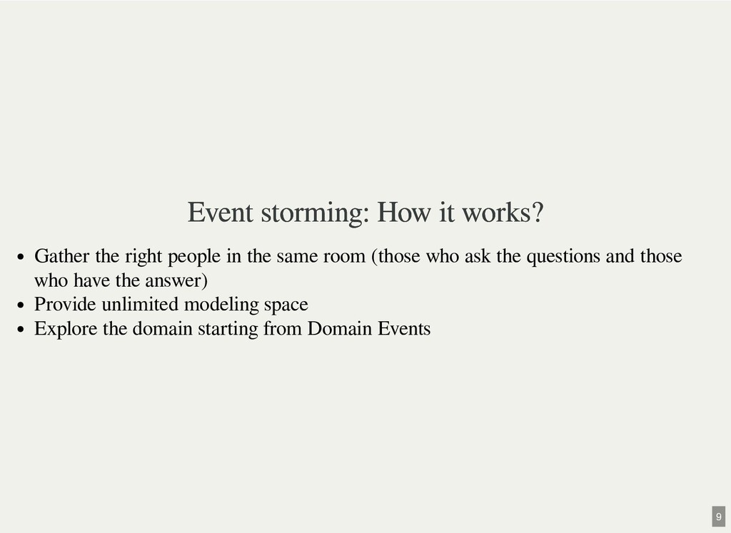 Event storming: How it works? Event storming: H...