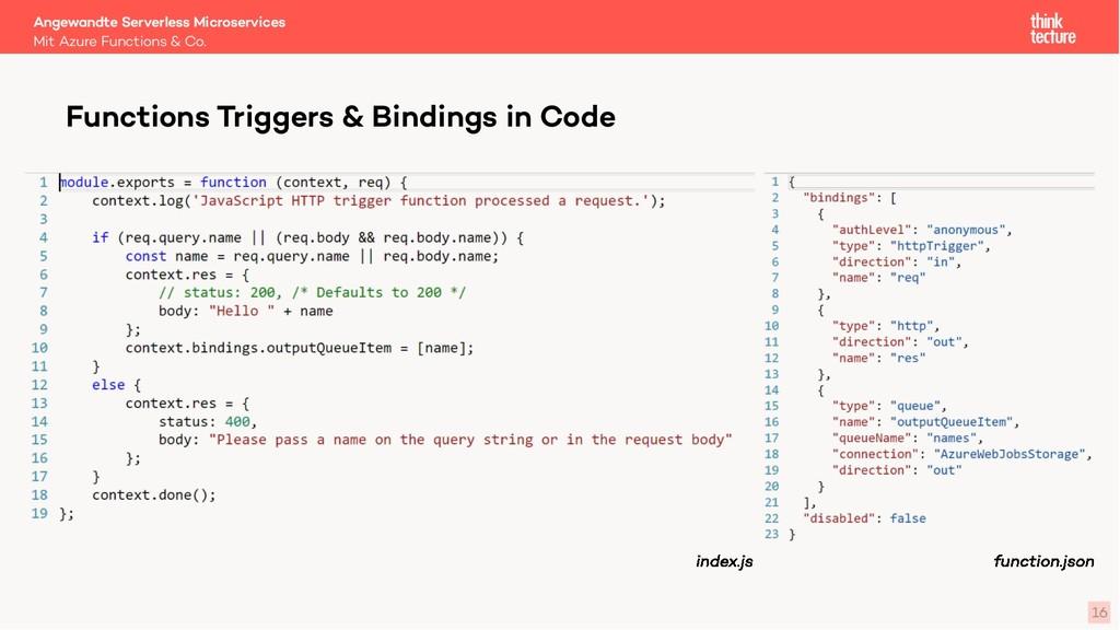 16 Functions Triggers & Bindings in Code Mit Az...