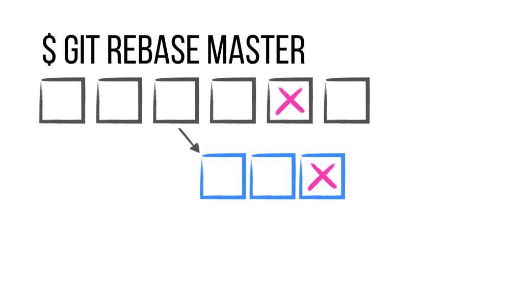 $ git rebase master