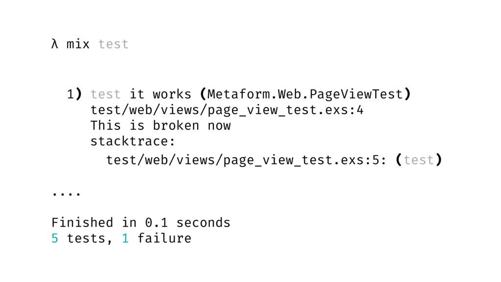 λ mix test 1) test it works (Metaform.Web.PageV...