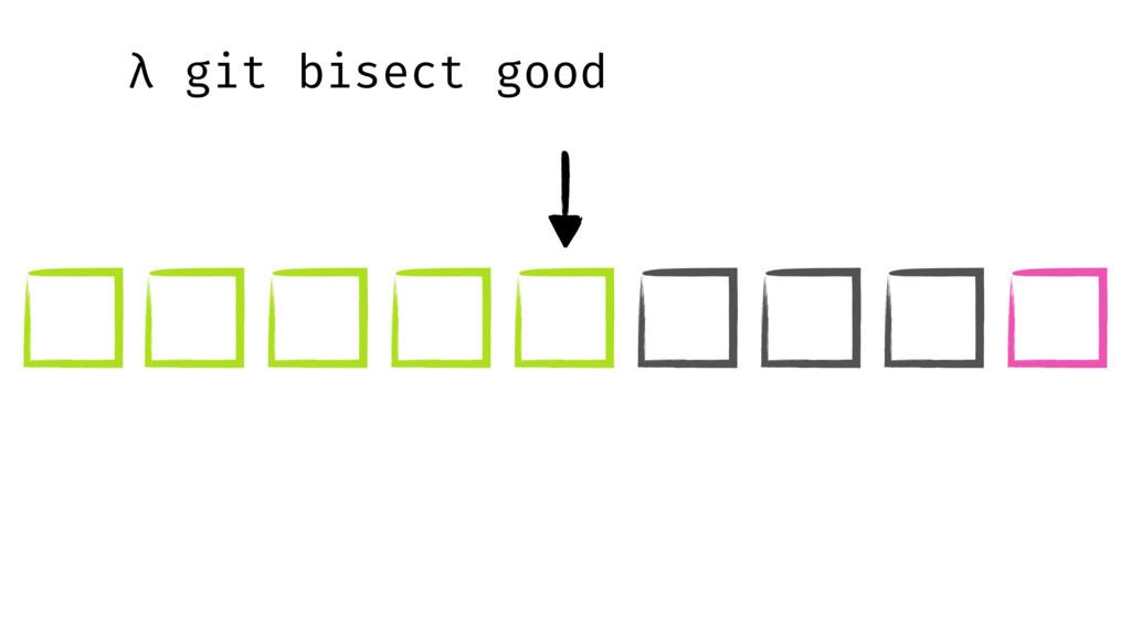 λ git bisect good