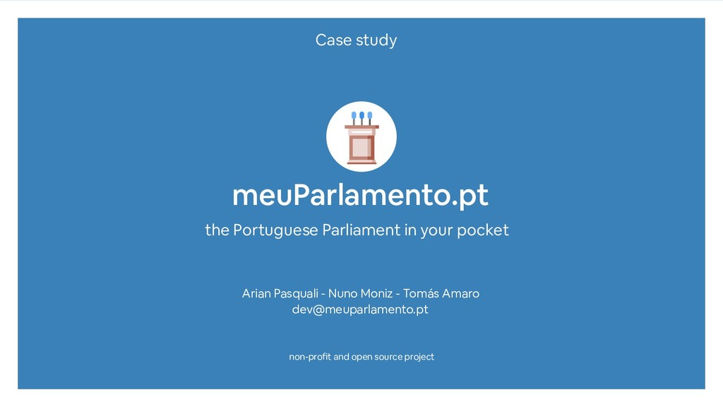 meuParlamento.pt the Portuguese Parliament in y...
