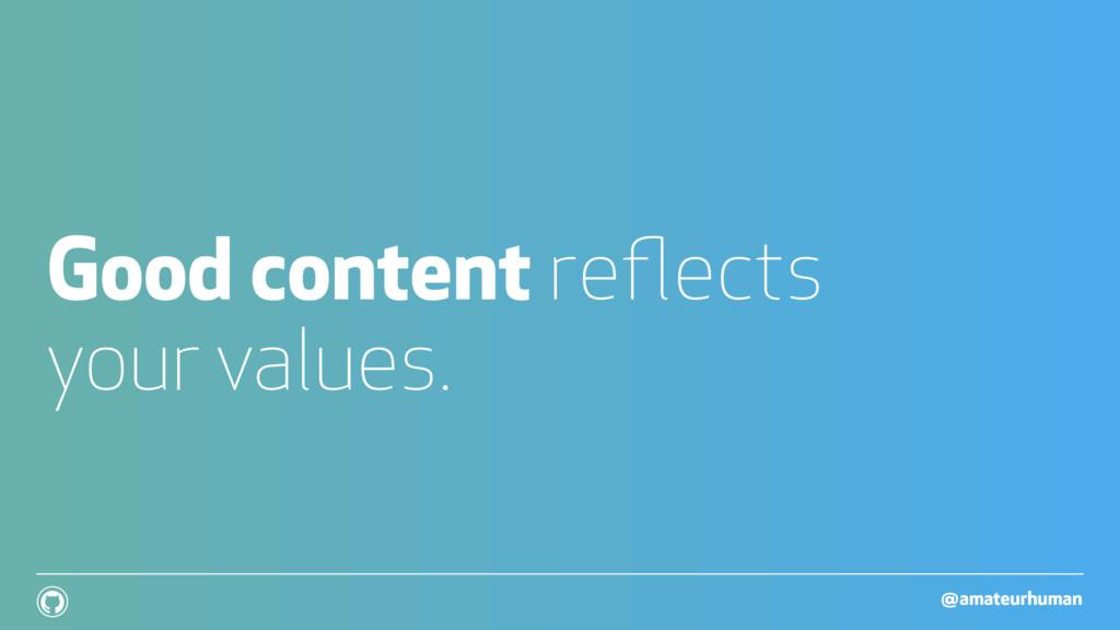 @amateurhuman ! Good content reflects your value...