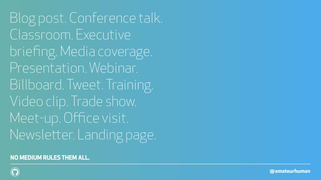 @amateurhuman ! Blog post. Conference talk. Cla...