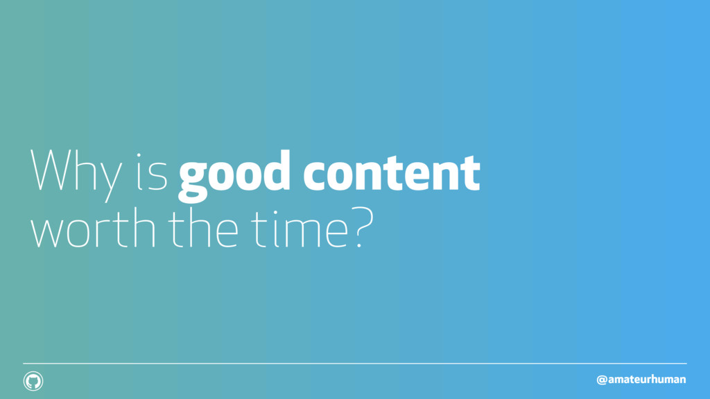 @amateurhuman ! Why is good content worth the t...